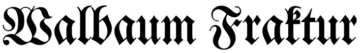 walbaum-fraktur