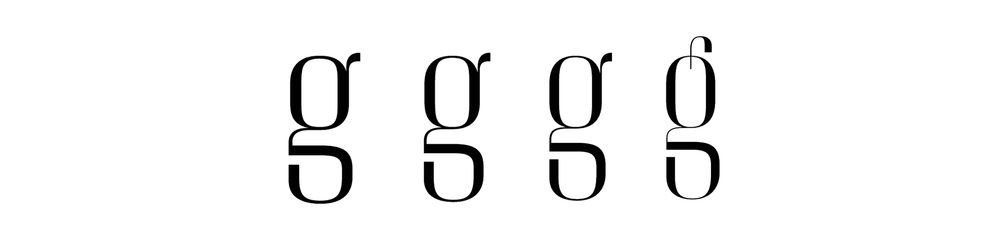 Christian Schwartz's Giorgio; 44. From left to right: Small, Medium, Large and XLarge